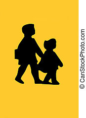 School Children Beware Sign - Road traffic school children...