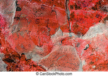 Abstract Slate in Red - Abstract marble pattern on slate, in...