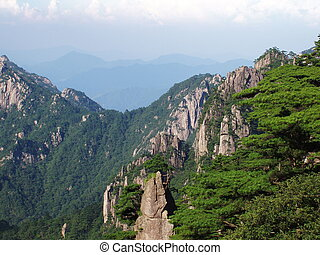 scenery of Huangshan - China,Anhui,Huangshan
