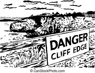 peligro, borde, acantilado