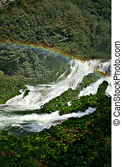 marmore waterfalls - waterfall with rainbow