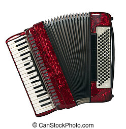 accordion - Sliced photographies different music instruments