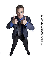 All good - Businessman gesturing thumbs up