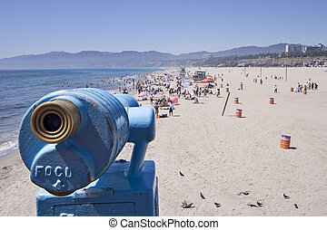 Scoping out beach - Scope at the Santa Monica pier
