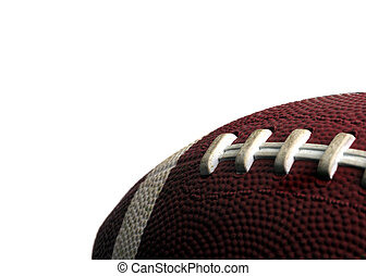Sports - Isolated Football - An isolated image of a partial...