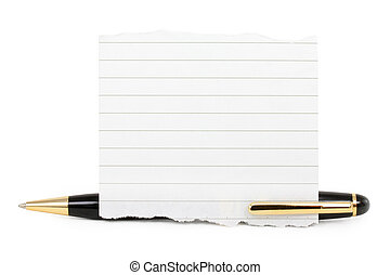 blank notepaper stick on a pen - blank notepaper stick on...