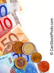 Euro money - Currency of European union  bills and coins