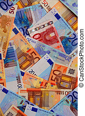Euro money - Background of european union currency paper...