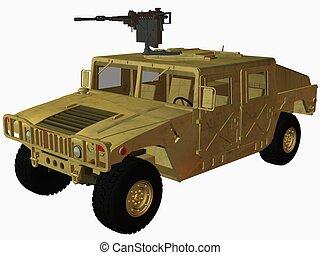 Hummer-Desert - 3D Render