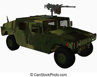 Hummer-Forrest - 3D Render