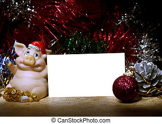 pig santa claus - Happy New Year