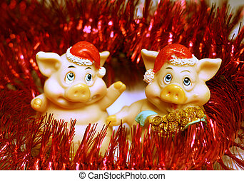 2 humop pigs - Happy New Year
