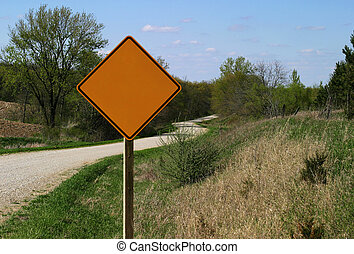 Rural Road Sign - blank - Left blank to fill out with...