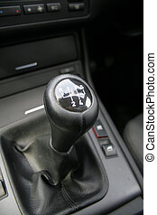 Gear shift - Close-up of a sport car gear shifter