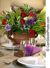 table flowers - Table decor at a wedding