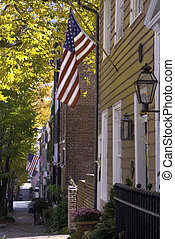 Patriotic Prince Street - The fall colors combine with...