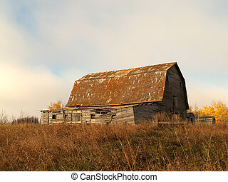 A Manitoba barn - An old barn south of the town of Birtle...
