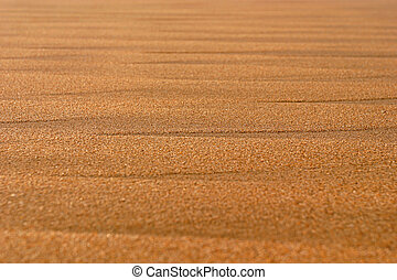 Textures in the sand on a beach