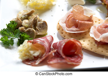 Plate of antipasti - Plate filled with delicious anti pasti