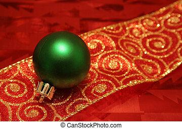 Green Ball on a Ribb