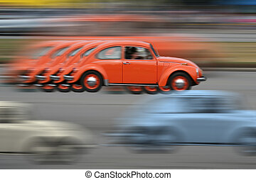 Vintage racing - Old car motion blur abstract