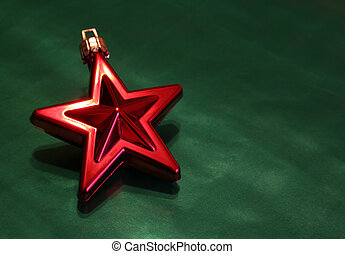 Shiny Red Christmas - A shiny red Christmas star ornament...