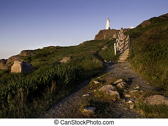 Cape Spear lighthouse in Newfoundland Canada near Saint...