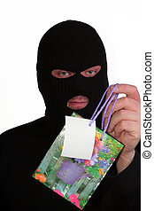 From con man with love - Criminal series 10 - smiling masked...