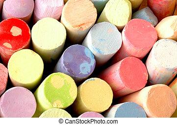 Sidewalk Chalk - Colorful Photo of Sidewalk Chalk
