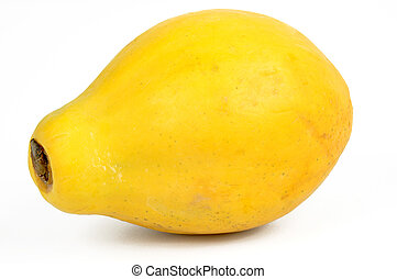 Fresh Papaya fruit on a white background