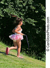 Little Girl Skipping