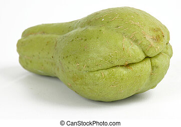 Chayote - One Vegetable chayote on white background