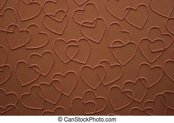 Chocolate Hearts - Double linked chocolate hearts embossed...