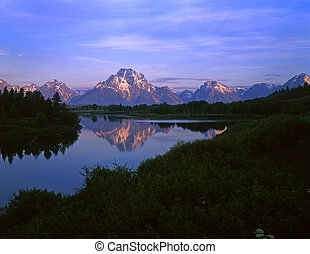 MtMoran&SnakeRiver#5 - The Oxbow Bend of the Snake River and...
