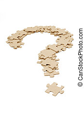 question mark made by puzzles, business concept
