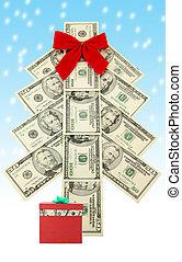 money Christmas tree and gift - Money Christmas tree and...