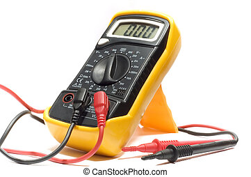 Digital multimeter - series object on white: isolated -...