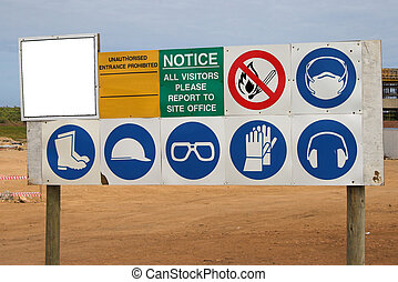 Construction Sign - Instructional sign at a construction...