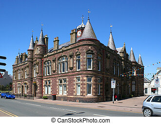 stornoway town hall - The unusual architecture of Stornoway...
