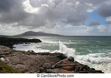 western isles coast - A coastline in the Western Isles from...