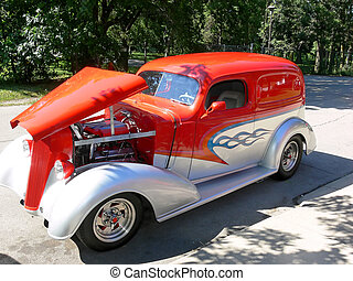 Old-timer car  30786 - An restored old-timer car.