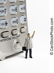 Business call - Business figures and portable phone