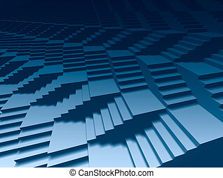 Infinite stairs 3d - Infinite 3d staircases dark blue...