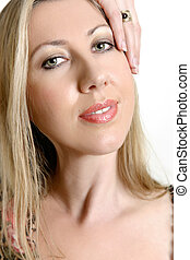 Beauty face complexion - Face of an attractive adult woman...