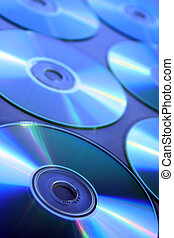 CDs compact disc - CDs compact disc in blue mood...