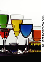 Colored Liquids - Glasses and colored liquids