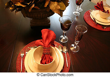 Dining table - Beautiful dining table set up