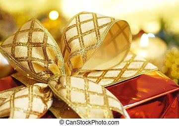 christmas ornaments - gold christmas ornaments with...