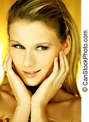 Woman Portrait G - Portrait of attractive beautiful young...