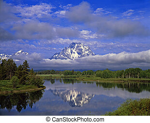 MtMoran&SnakeRiver#3 - The Oxbow Bend of the Snake River and...